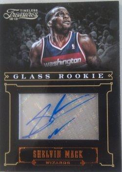 2012 Panini Timeless Treasures Shelvin Mack Glass Rookie autograph