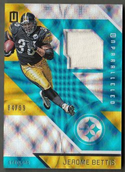 2016 Panini Unparalleled Jerseys Jerome Bettis