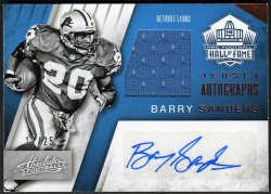 2016   Barry Sanders Absolute Hall of Fame Jersey Autographs Auto /25