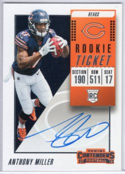 2018 Playoff Contenders Anthony Miller Rookie Ticket Variation RPS