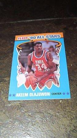 1990 Fleer 90 All Stars  Akeem Olajuwon 3 of 12