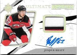 2017-18 Upper Deck Ultimate Collection Rookie Patch Autographs Jesper Bratt