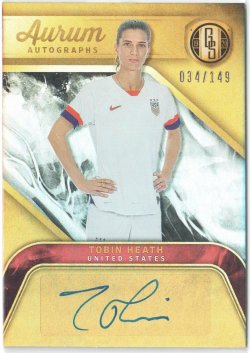 2019-20 Panini Gold Standard Aurum Autographs Tobin Heath