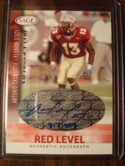 Antonio Cromartie 2006 Sage Red Level AUTO /999