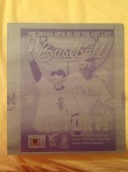 2009  Beckett Baseball Printing Plate Barack Obama/Ryan Howard