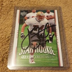 2007 Upper Deck Rookie Exclusives Joe Staley RC IP Auto