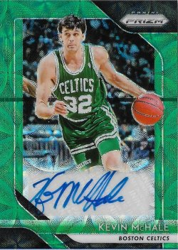 2018-19 Panini Prizm Signatures Prizms Choice Green Kevin McHale #ed 7/8