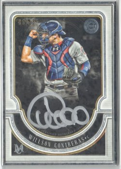 2018 Topps Museum Collection Framed Silver Auto Willson Contreras