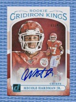 2019 Donruss Rookie Gridiron Kings Autographs #15 Mecole Hardman Jr./49