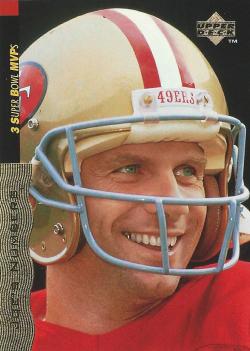 1995 Upper Deck Joe Montana 45 Card Career Complete Set Joe Montana
