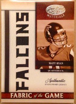 2008 Donruss Leaf Certified Fabric of the Game Team Die Cut Matt Ryan