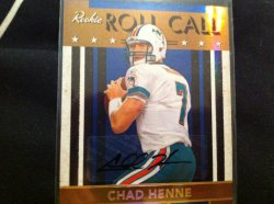 2008 Donruss Contenders Chad Henne Roll Call /25