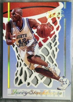 1995  Classic Visions Jerry Stackhouse laser art