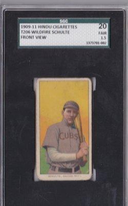 1909  T206 Hindu Brown Wildfire Schulte