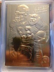 1992  Action Packed  Emmitt Smith 24kt Gold Mint Collection