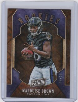 2019 Marquise Brown Panini Black Friday Refractor  RC 4/25  Ravens A8887