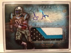 2012 Topps Inception Joe Adams Patch Auto