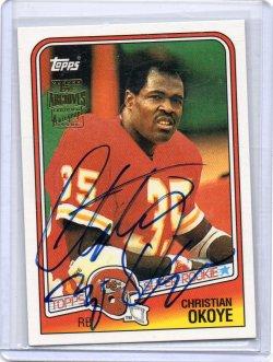 2001 Topps Archives Christian Okoye Rookie Reprints Auto