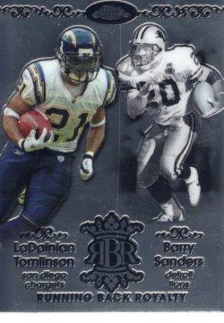 2007 Topps Chrome RB Royalty Barry Sanders, Ladanian Tomlinson