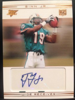 2007 Topps Performance Ted Ginn Jr. Rookie auto