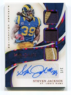 2019 Panini Immaculate Steven Jackson Patch Autograph