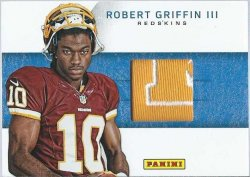 2012 Panini Black Friday Robert Griffin lll hat patch