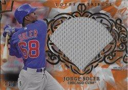 2015 Topps Tribute Diamond Cuts Jersey Orange Soler