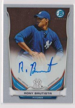 2014 Rony Bautista Bowman Chrome  On-Card Auto RC   Yankees B1775