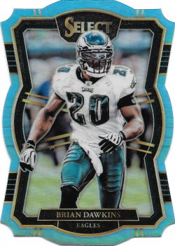 2017 Panini Select Prizm Light Blue Brian Dawkins