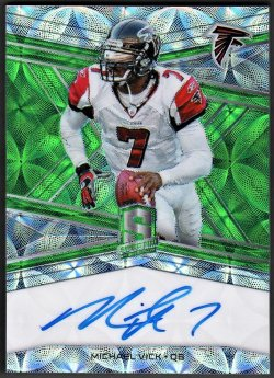 2018   Michael Vick Spectra Green Scope Refractor Auto #8/15