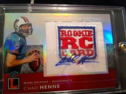 2008 Topps Letterman Chad Henne /5