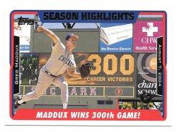 2005 Topps Topps 1st Edition Greg Maddux (Season Highlights)