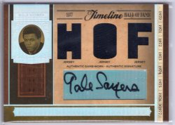2006 Playoff National Treasures Gale Sayers Timeline HOF Jersey Auto