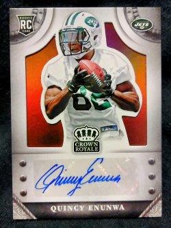 2014 Panini Crown Royale Quincy Enunwa Rookie Signatures Retail Bronze Parallel