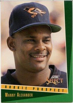 1993 Score Select Alexander, Manny
