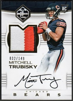 2017   Mitchell Trubisky Limited Gold Parallel 3-CLR RPA /149