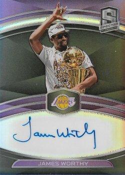 2019-20 Panini Spectra NBA Champions Signatures James Worthy #ed 18/35