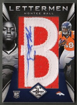 2013  Limited Rookie Letterman Montee Ball