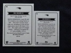 2012 Topps Magic Base & Mini Wes Welker #10 Back
