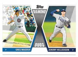 2011 Topps Topps Diamond Duos Greg Maddux and Jeremy Hellickson