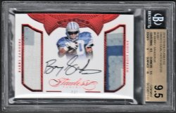 2016   Barry Sanders Flawless Greats Ruby Parallel Dual 3-CLR Patch Auto #4/5 BGS 9.5/10
