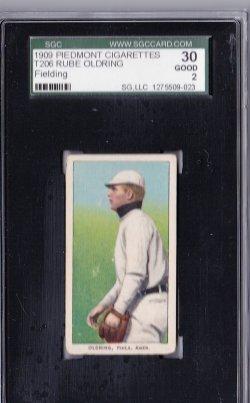 1909  T206 Piedmont 150 Rube Oldring Fielding