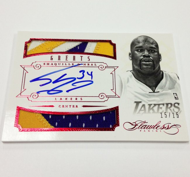 Shaquille O'Neal Flawless Red Patch Auto 15/15