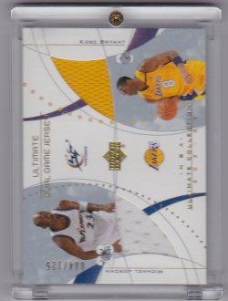 2002-2003 Upper Deck Ultimate Dual Jerseys Michael Jordan / Kobe Bryant