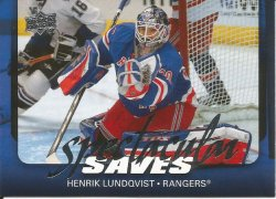 2008 Upper Deck Spectacular Saves Henrik Lundqvist