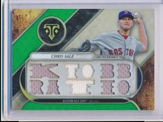 Chris Sale 2017 Topps Triple Threads Relics Emerald /18