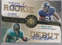 2006 Upper Deck Rookie Debut Tiki Barber & Maurice Drew Debut Draft Link