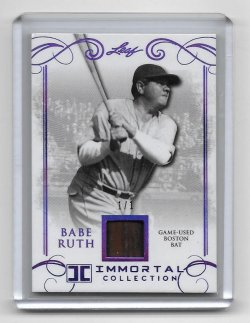 2017 Leaf Babe Ruth Immortal Collection Purple Parallel Game-Used Boston Bat