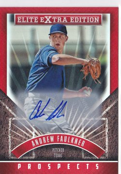 2015 Andrew Faulkner Elite Extra Edition Prospects Auto RC   Rangers A8635