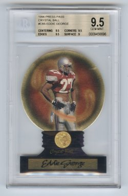 1996 Press Pass Crystal Ball #CB5 Eddie George BGS 9.5